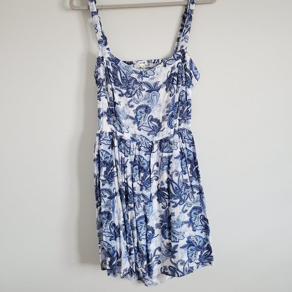 Garage floral print open back strap dress